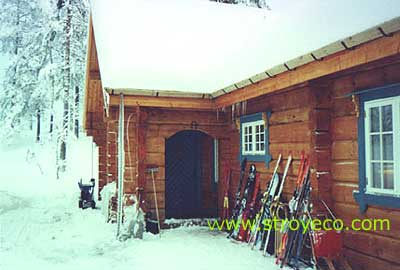 Hand-made logs house, Norway. Photo 2