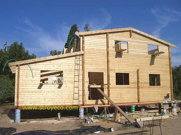 Строительство деревянного коттеджа в
