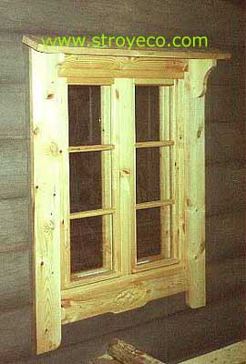 Window with external platbands and a canopy. Photo 2